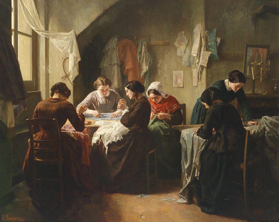 Seamstresses in a shop