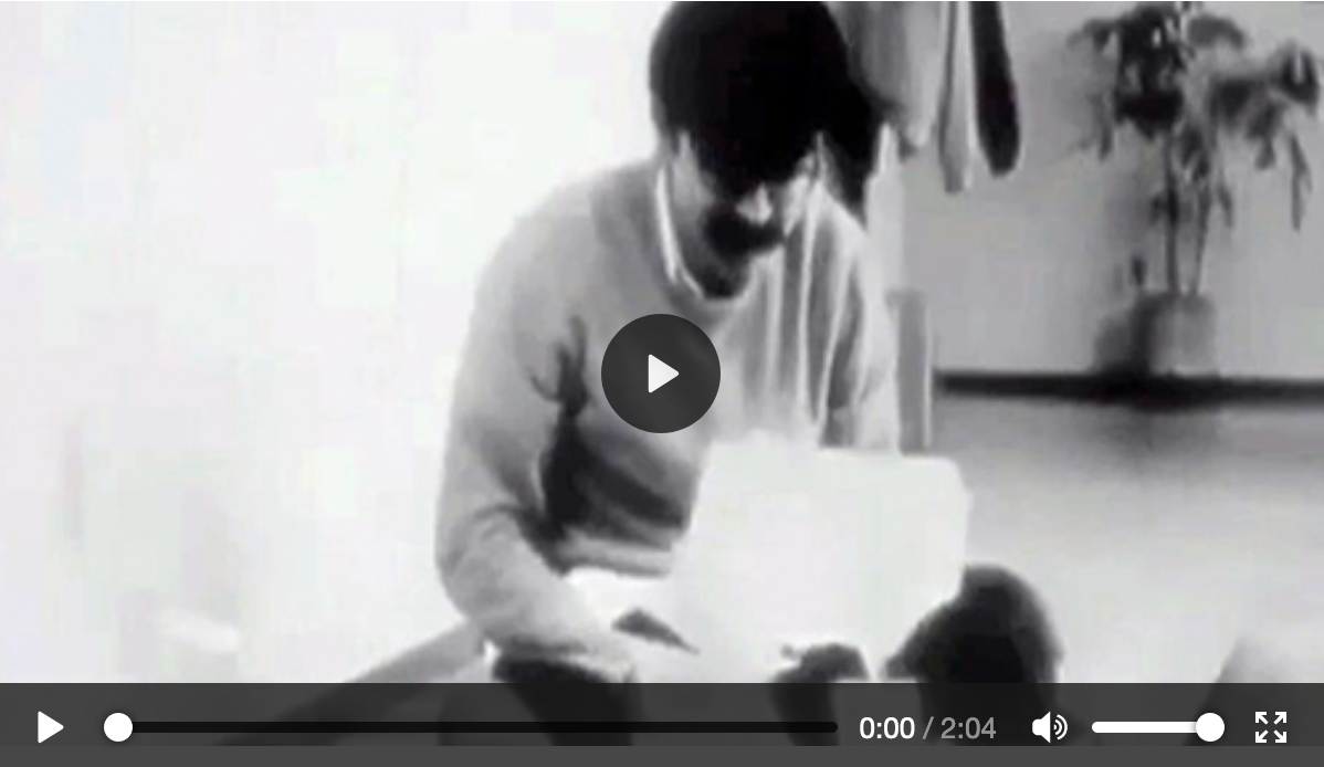 Silent spoof movie relating the adventures of a programmer waiting on batch processing.